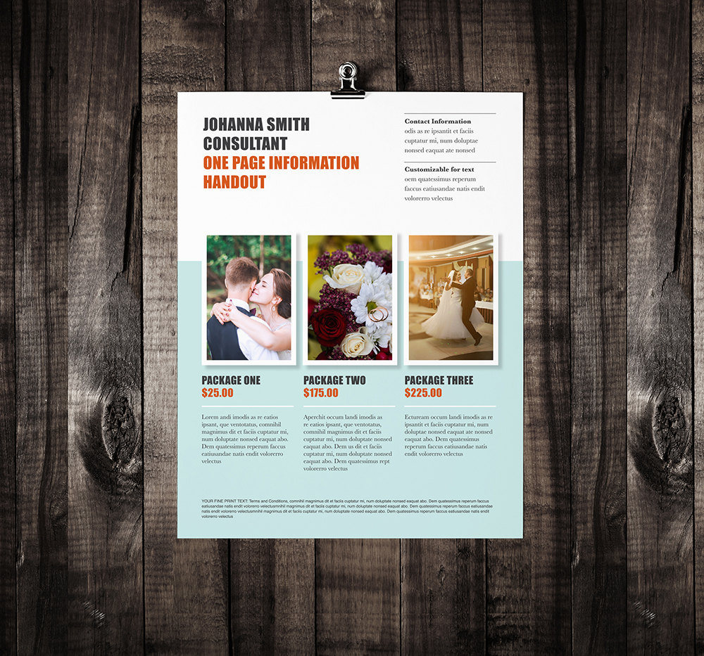 one page brochure templates - single page brochure template rumble design store