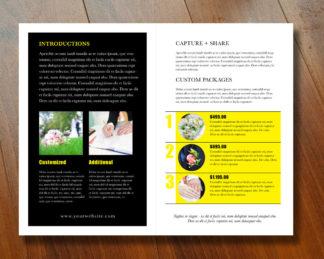 Bifold Brochure Template Half Moon Rumble Design Store - 2 panel brochure template