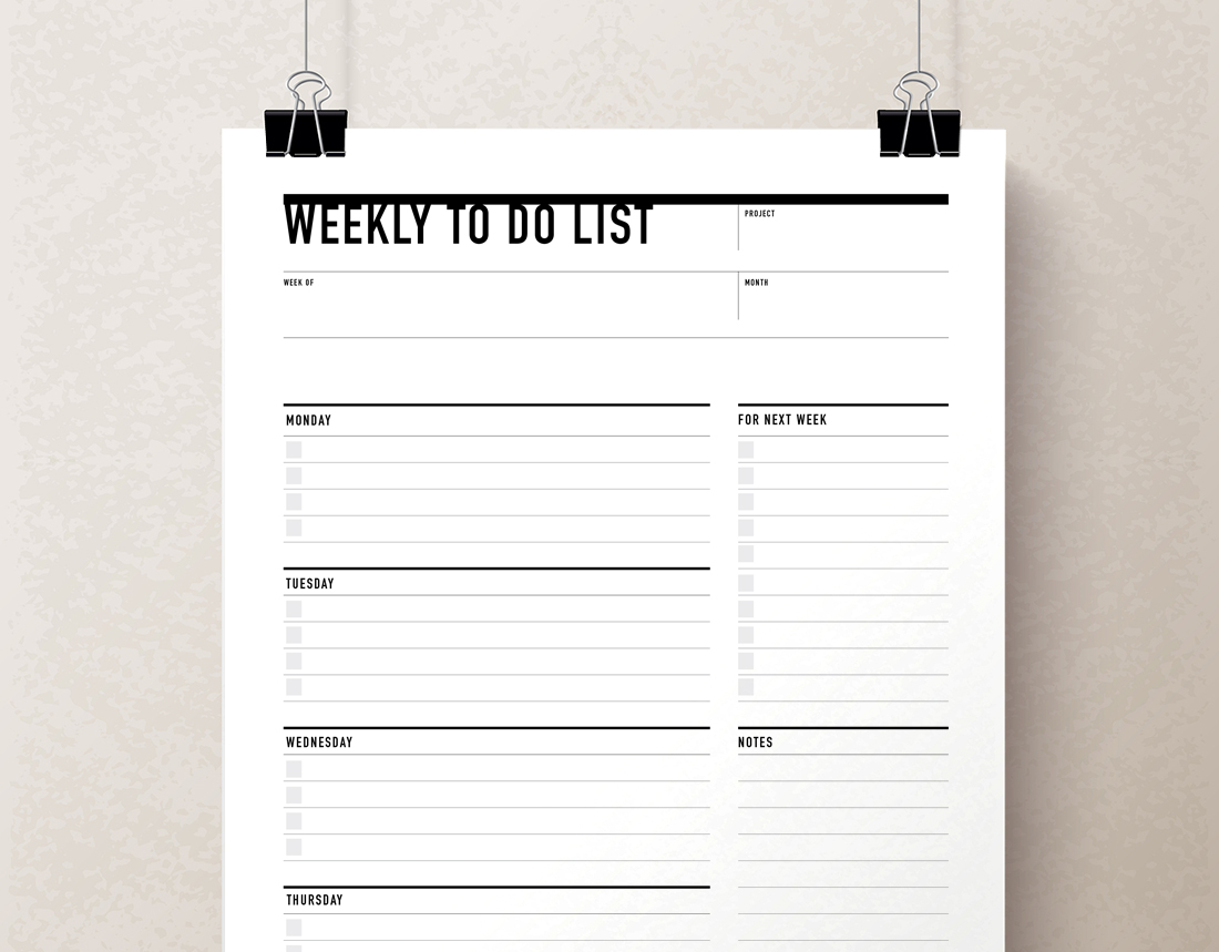 Printable Weekly To Do List & Planner   Rumble Design Store