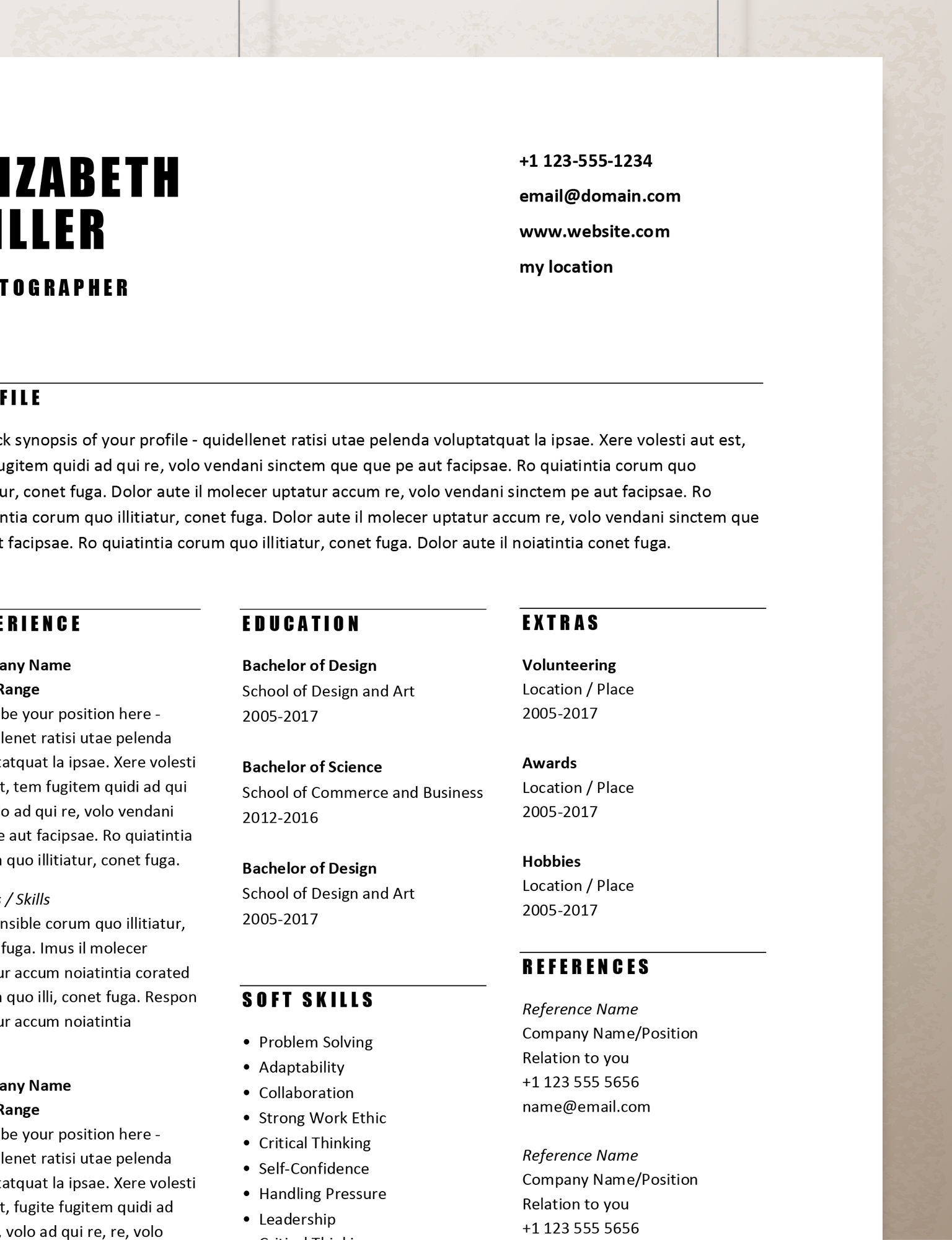 simple resume templates  rumble design store