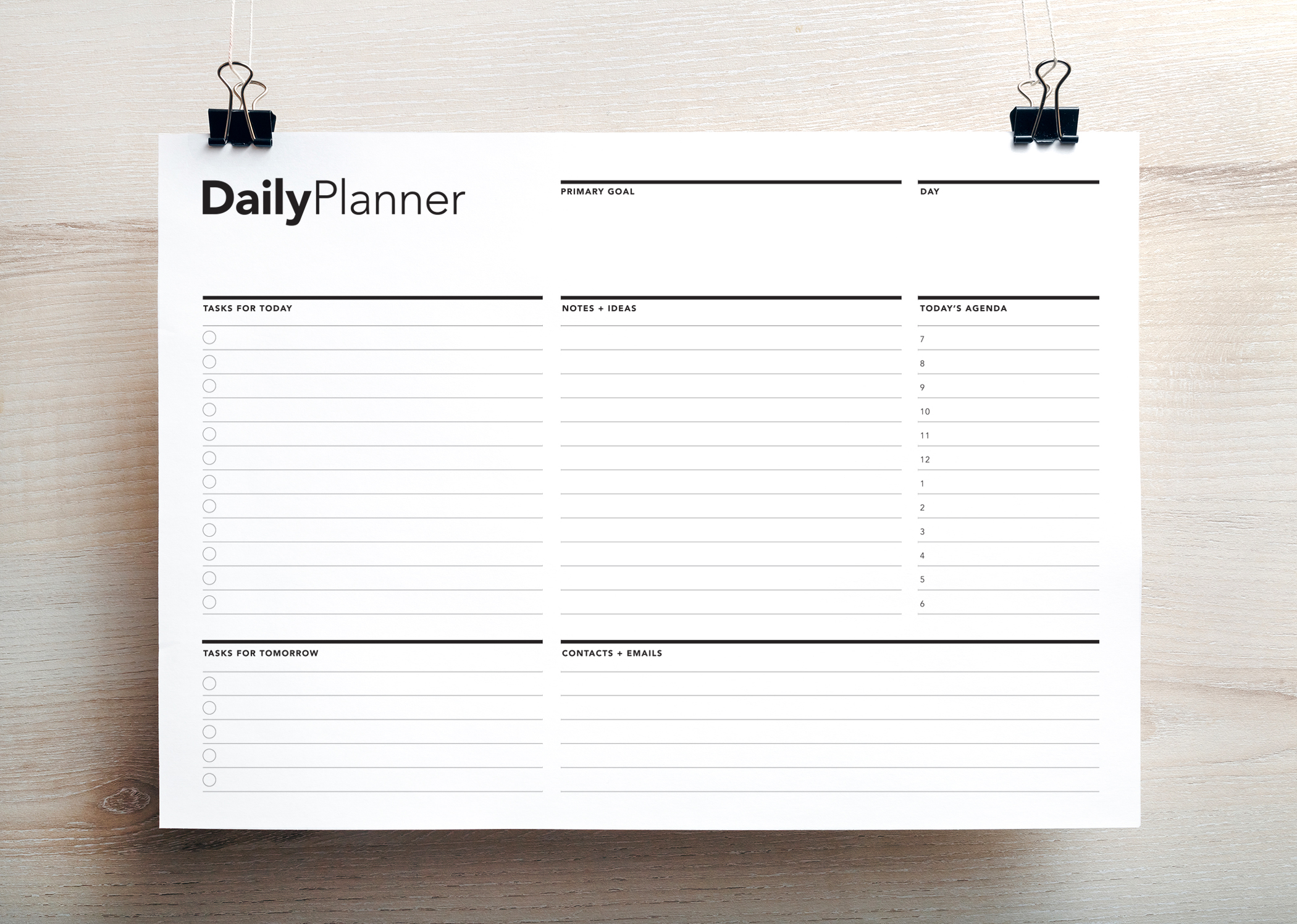 daily planner life planner daily agenda printable to do list college planner