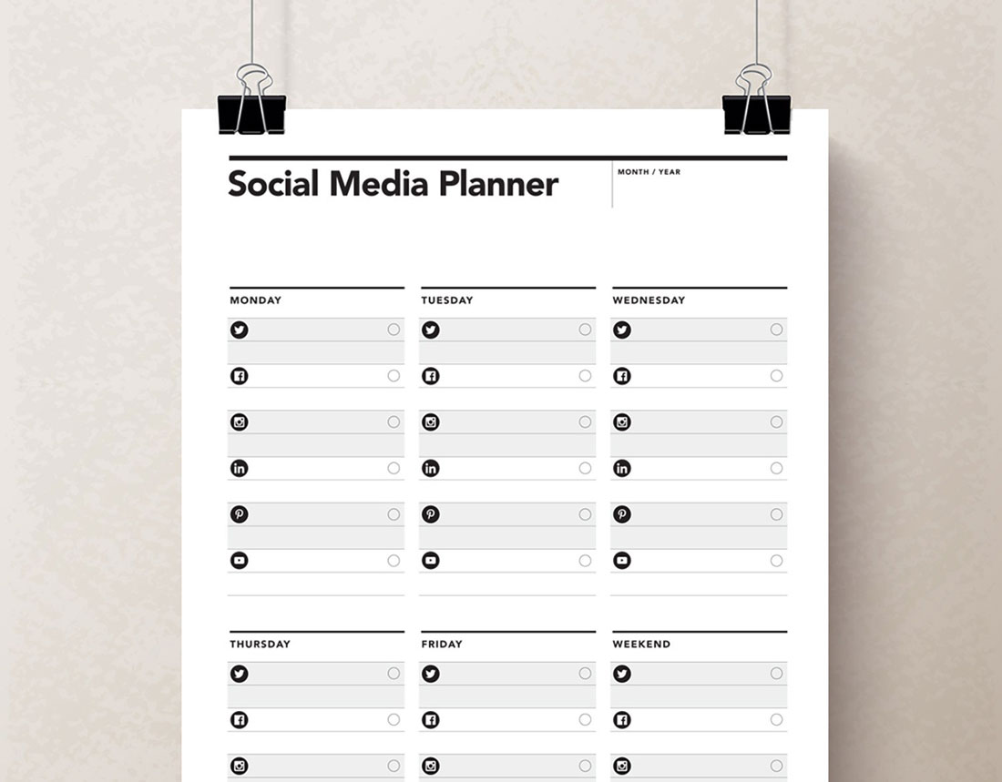 Social Media Planner Rumble Design Store